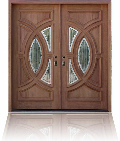 Стальная дверь с массивом дуба