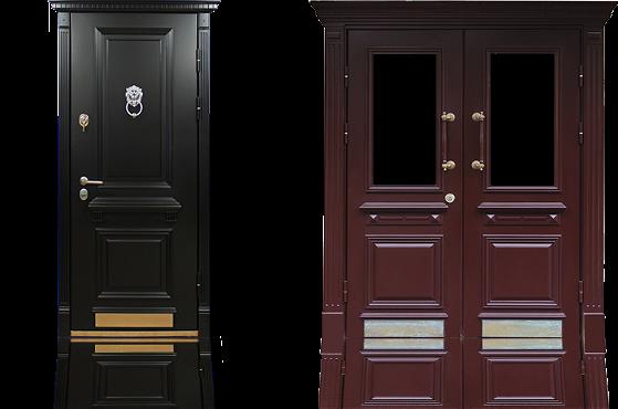 """Стальная дверь с отделкой """"Венецианский багет"""""""