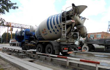 Весовой контроль миксеров при поставке бетона